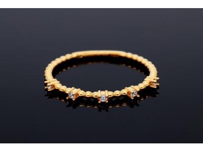 Inel aur 14K pietricele zirconia