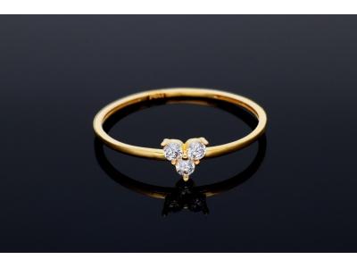 Inel aur 14K triangle