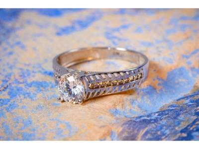 Inel aur alb bijuterie cadou