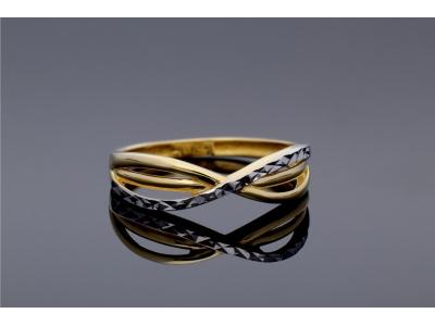 Inel aur alb si galben bijuterii cadou