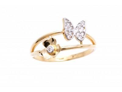 Inel aur cadouri bijuterii fluture