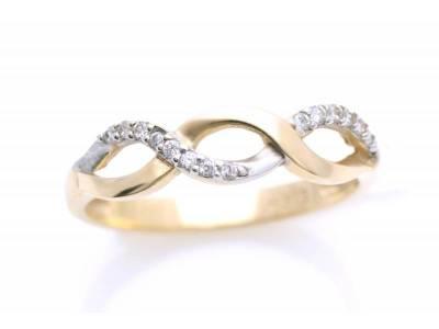 Inel aur cadouri bijuterii model infinit