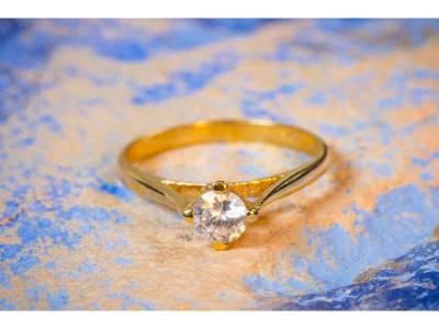 Inel aur cadouri bijuterii solitaire