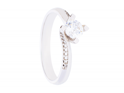 Inel aur cadouri bijuterii solitaire de logodna