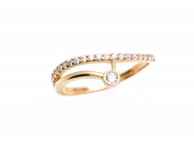 Inel aur cu zirconii cadouri bijuterii
