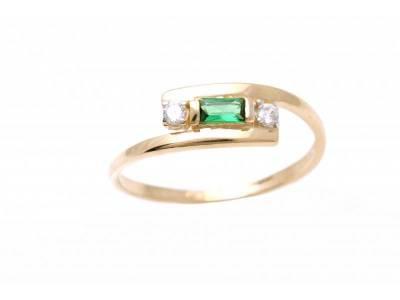 Inel aur dama bijuterii cu pietre  colorate