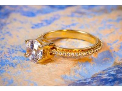 Inel aur logodna model antistres 1 rand  de pietre