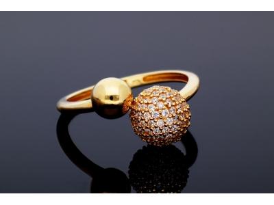 Inel bijuterii aur 14k de dama zirconia