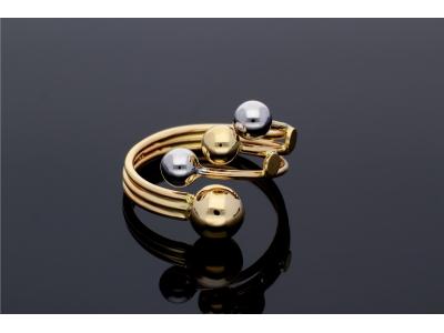 Inel cu bilute bijuterii aur