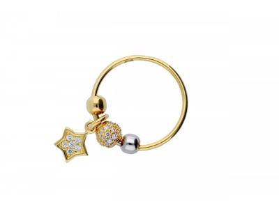 Inel cu charm aur 14K steluta