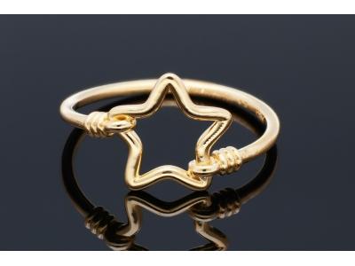 Inel dama din aur 14K galben steluta