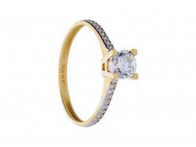 Inel de logodna aur 14k cadouri bijuterii
