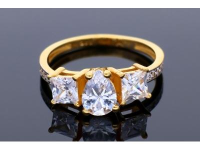 Inel de logodna aur 14K galben