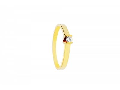 Inel de logodna aur 18k cu diamant