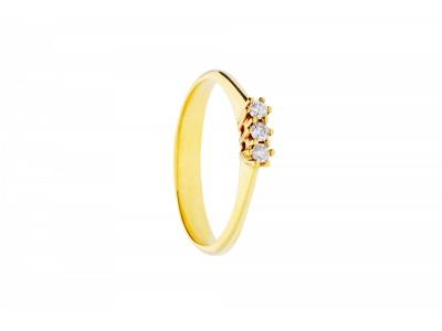 Inel de logodna aur 18k cu diamante