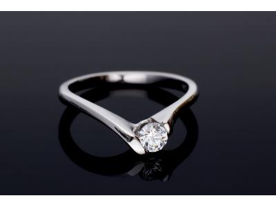 Inel de logodna aur alb 14k bijuterii on line