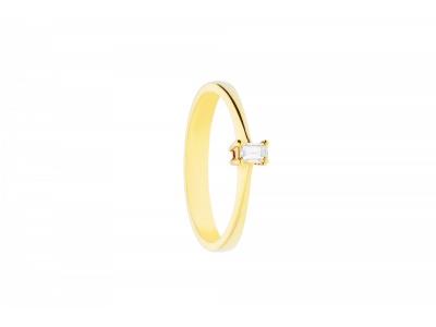 Inel de logodna aur galben  18k cu diamant