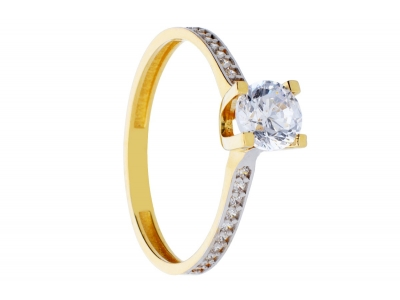 Inel de logodna bijuterii aur cadou