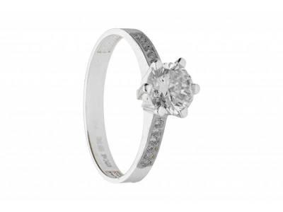 Inel de logodna bijuterii online aur alb 14k