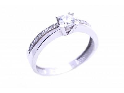 Inel de logodna cadouri bijuterii aur alb 14k