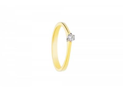 Inel de logodna cadouri bijuterii aur cu diamante
