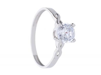 Inel de logodna infinit bijuterii aur alb 14k