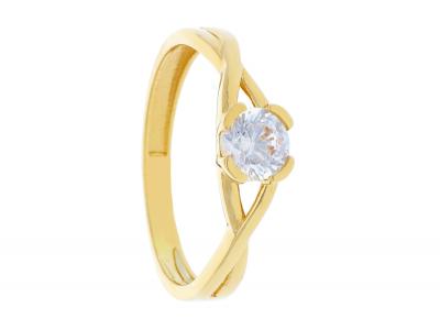 Inel din aur 14K galben bijuterii dama online