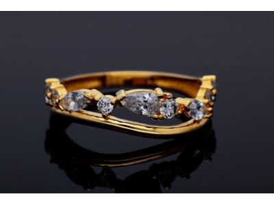 Inel din aur 14K zirconii albe