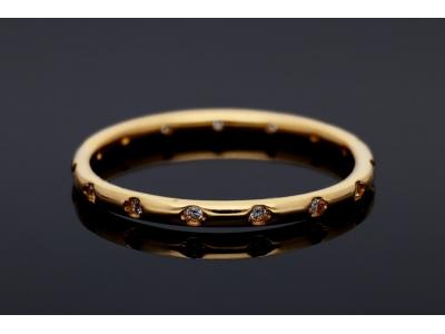 Inel din aur galben 14K zirconia