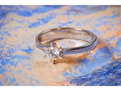 Inel din aur logodna cadou