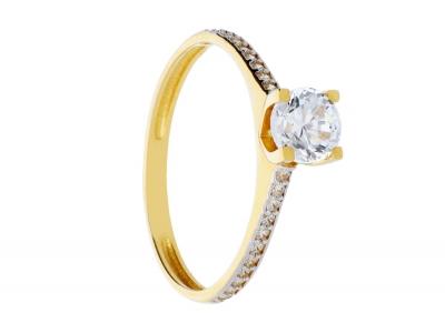 Inel logodna aur 14k bijuterii dama