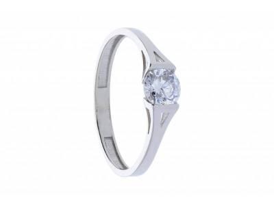 Inel logodna aur alb 14k bijuterii online