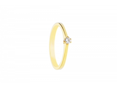 Inel logodna  aur galben  bijuterii cu diamante