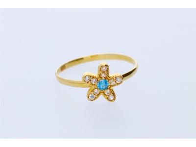 Inel pentru copii aur 14K floricica