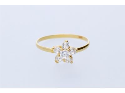 Inel pentru copii aur galben 14K floricica