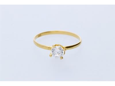 Inel pentru copii aur galben 14K stil logodna