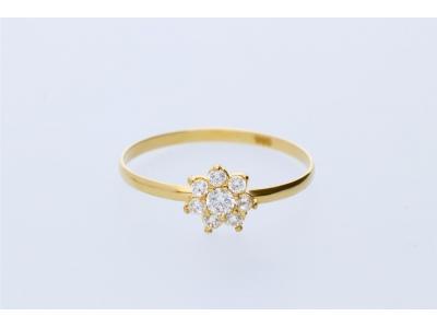 Inel pentru copii din aur 14K floricica