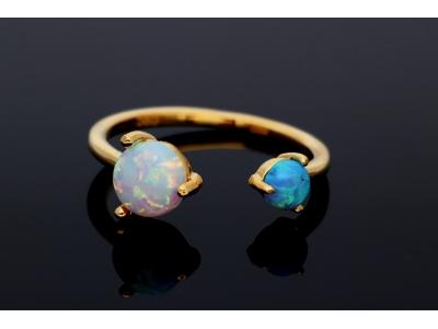 Inel reglabil cu opal cadouri bijuterii aur 14k