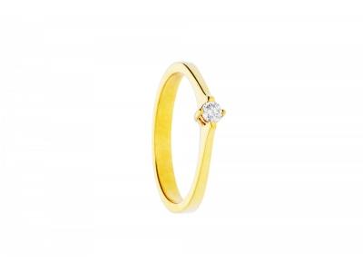 Inel solitaire aur 18k bijuterii cu diamante