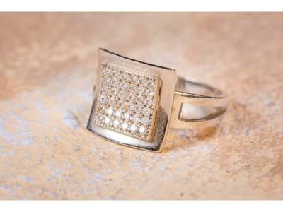 Inel zirconii cadouri bijuterii aur 14K