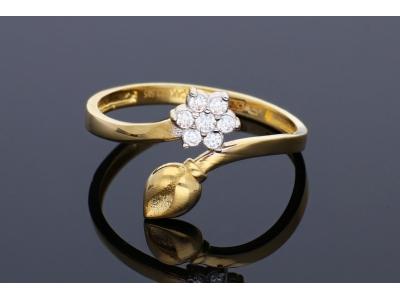 Inele din aur 14K bijuterii cadou floricica