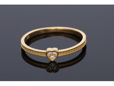 Inele din aur 14K  inimioara