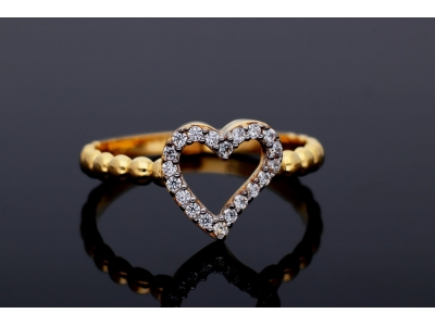 Inelel din aur 14K inimioara