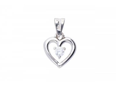 Inimioara pandant bijuterii aur 14K