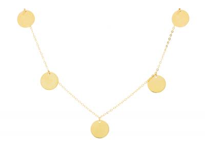 Lant cu banuti salba cadouri bijuterii aur