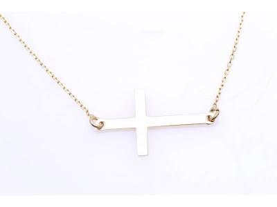 Lant cu pandant aur 14k bijuterii cruciulita