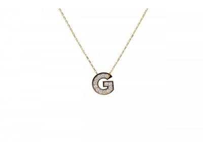 Lant cu pandant aur 14k initiala G