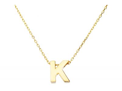 Lant cu pandant aur 14k litera K