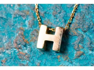 Lant cu pandant bijuterii aur 14K initiala H