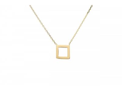 Lant cu pandant geometric aur 14k bijuterii
